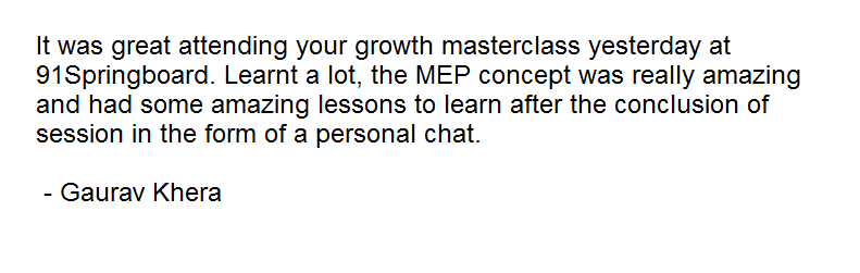 PayUmoney Startup Growth Masterclass Delhi Feedback 2