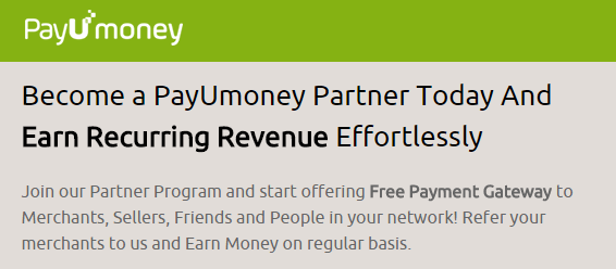 PayUmoney Channel Partner Program
