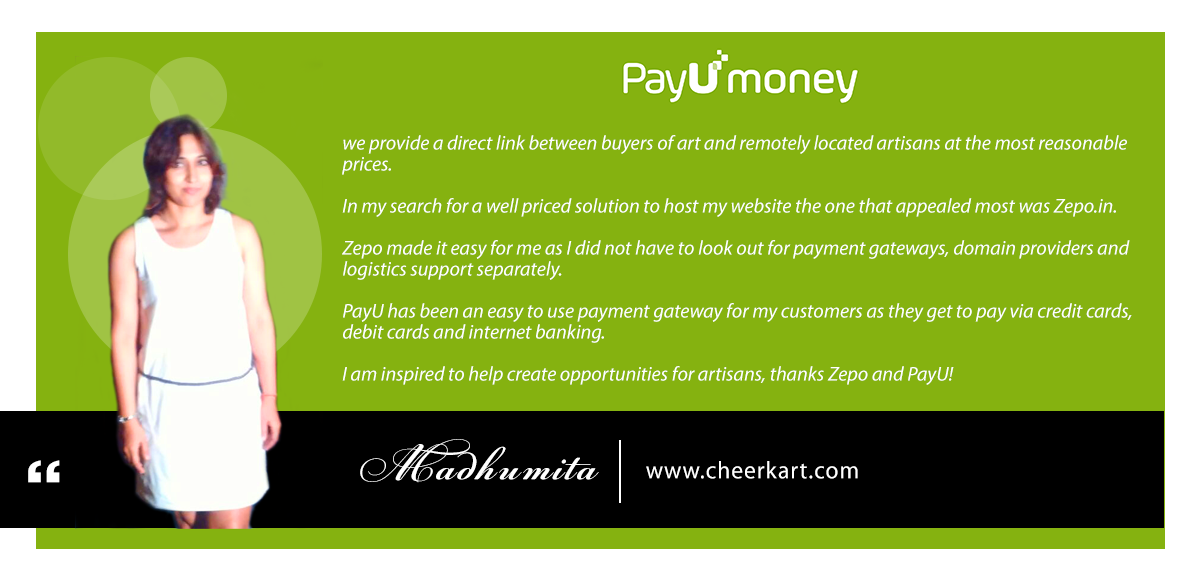 PayUmoney and Zepo Women Entrepreneurship Month-Madhumita