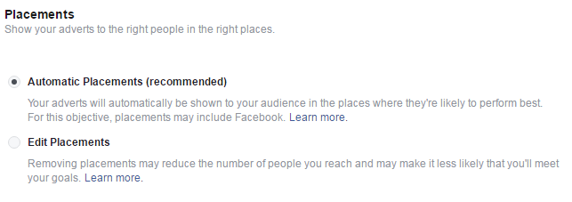 Facebook Advert Step 5