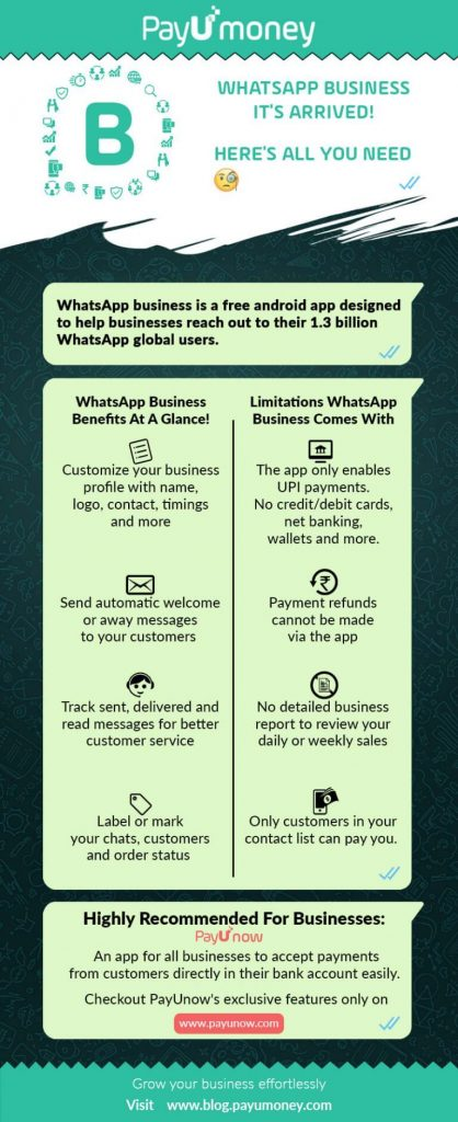 whatsapp business app to sell infographic