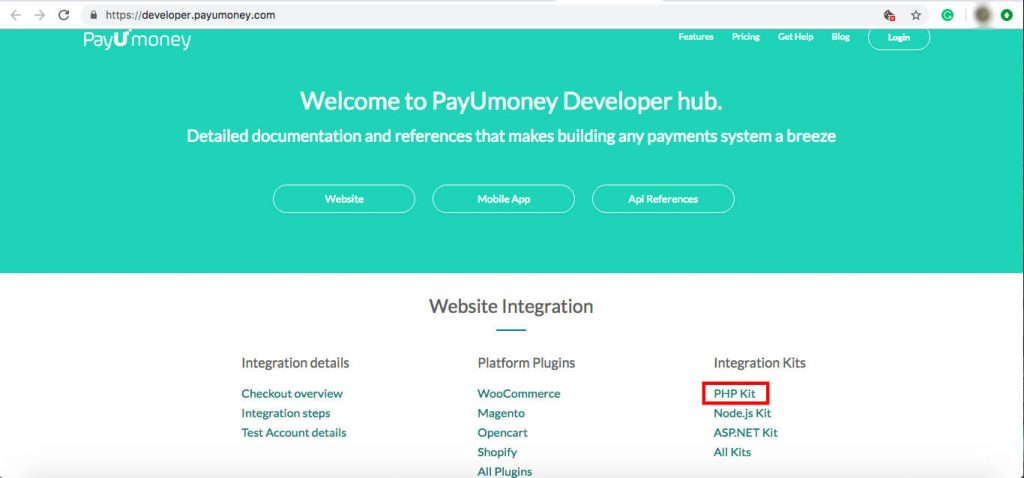 payumoney php integration dev guide
