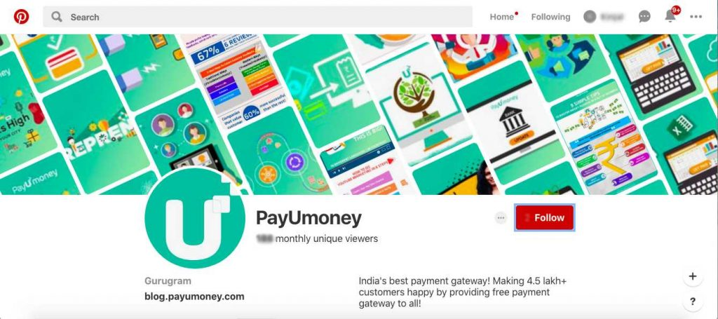 payumoney pinterest for business