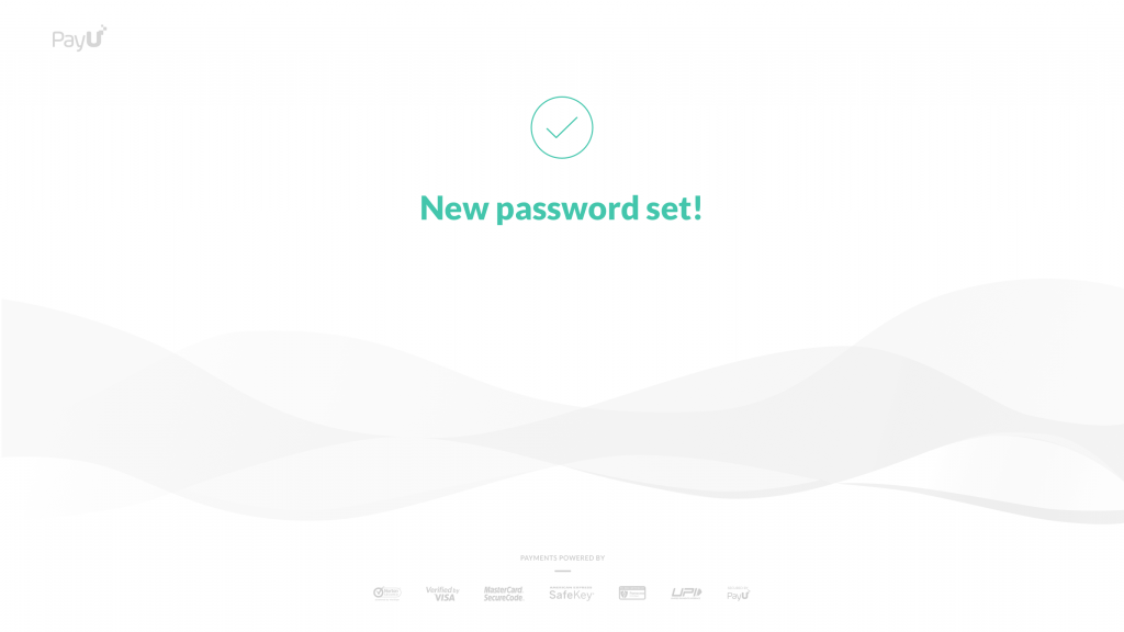 new pPayU password setting