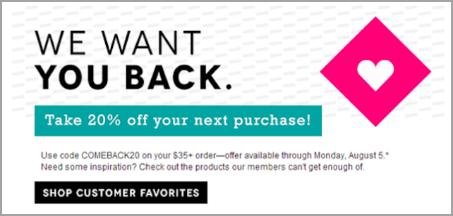 Comeback: Coupon Marketing Strategy