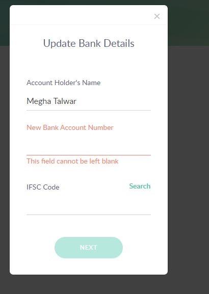 Update bank details-PayUmoney