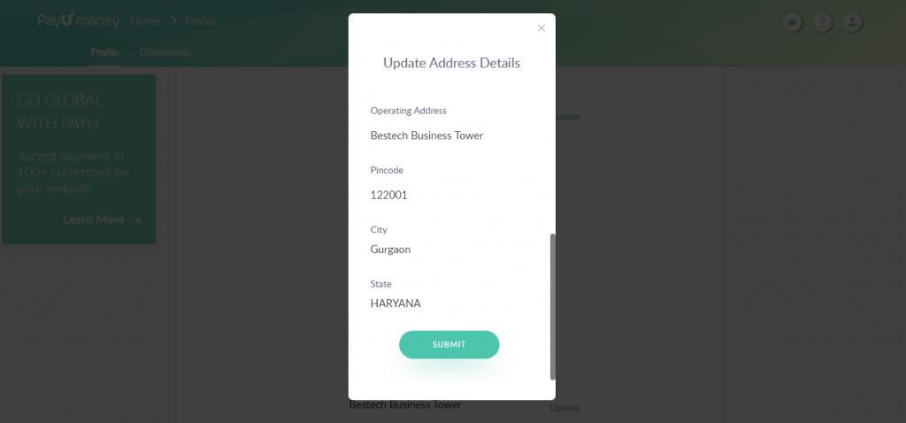 Updating_Business_Address_PayUmoney