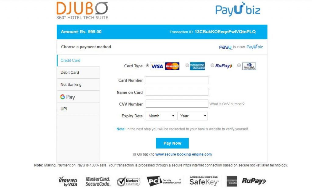 Ab Tours_PayU_Payment_Gateway