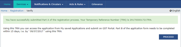 Step 4 to Register a startup or SMB under GST