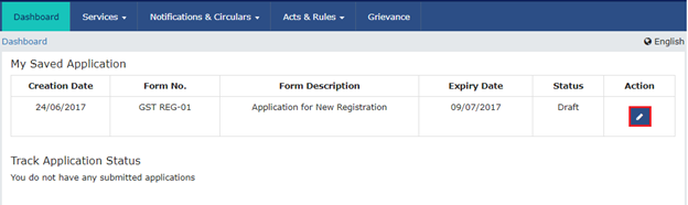 Step 5 to Register a startup or SMB under GST